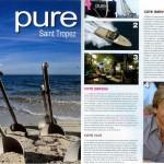 Communiqué de presse dans le magazine «Pure Saint Tropez»