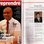 Communiqué de presse dans le magazine «Entreprendre»